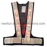 Alta maglia di visibilità della maglia riflettente impermeabile del LED