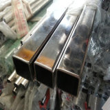 Tubo de acero inoxidable rectangular soldado SUS304 de JIS