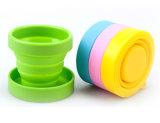 FDA는 휴대용 실리콘 뚜껑을%s 가진 야영 옥외 운동 하이킹을%s 야영 찻잔 접을 수 있는 폴딩 여행 컵을 승인했다