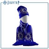 صلبة اللون الأزرق بيع بالجملة شتاء قبعة وقفاز بالغ