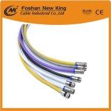 0.81mm Bc/Conductor CCS RG59 Cable coaxial con el conector F para CATV CCTV