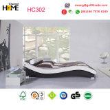 مزدوجة أبيض حديث جلد سرير ([هك302])