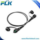 IP67 MPOのシングルモード防水光ファイバパッチケーブルへの24のファイバーIP67 MPO