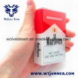 Caja de cigarrillo portable construida en la emisión de la señal del teléfono móvil de la antena