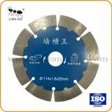 """4.5""""/114mm disco de corte Herramientas de Hardware de la pared prensado en caliente de la hoja de sierra de diamante sinterizado para pared"""