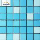 Голубо и белизны кроет керамическую плитку черепицей мозаики для плавательного бассеина
