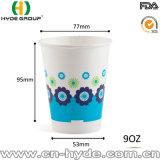 12oz одноразовые холодный напиток бумаги наружное кольцо подшипника с помощью пользовательских логотип (12 унций)