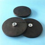 Резиновый Coated N35 магнит бака Dia x 6mm неодимия 43mm с мыжской резьбой для удерживания