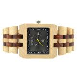고품질 일본 운동 석영 남자의 시계 목제 손목 시계 남자
