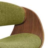 Chaise de salle à manger en bois cintré en similicuir