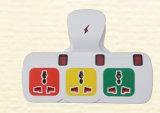 유럽 Schuko Adapter Plug 유럽 Plug 3way 3gang 1520년