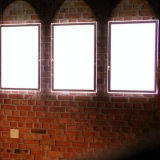 Contenitore chiaro fissato al muro di acrilico LED per il tabellone per le affissioni illuminato del menu