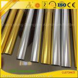 Tubulação redonda de alumínio dourada de prata Polished para o corrimão do balcão