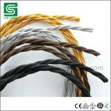 De doek behandelde Gevlechte Textiel Elektrische Verdraaide Kabel Sleeving