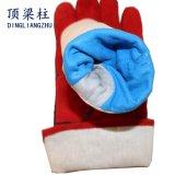 """14の""""赤い耐熱性安全革作業溶接手の手袋"""