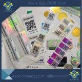 Código QR de alta calidad de impresión de etiqueta Holograma