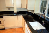 Parte Superior do Espelho de pedra de granito preto/Bancadas de trabalho para cozinha ou casa de banho
