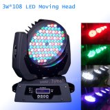 108 X 3W LED 세척 이동하는 맨 위 가벼운 사건 빛