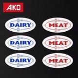 Étiquette de collants d'entrepôt d'endroit froid pour la nourriture