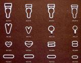 Clip rivestite di nylon della bretella della giarrettiera