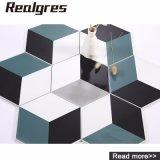 3D Verglaasde Muur van de Kunst Ontwerp en Hexagon Ceramiektegel van de Vloer