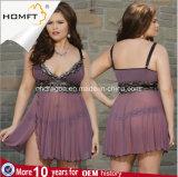 """Do estilo quente da meia-noite quente o mais atrasado do Nightgown da roupa interior do laço do roxo de muitos tamanhos jogo """"sexy"""" transparente da roupa interior"""