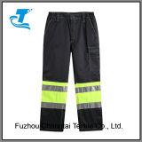 Pantalon r3fléchissant de cargaison de visibilité élevée pour les hommes