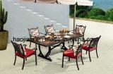 Tableau extérieur/de jardin/patio rotin/fonte d'aluminium avec le dessus de table HS7122dt