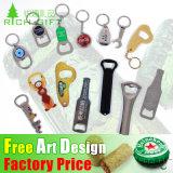 Förderndes Geschenk-kundenspezifisches Berufsplastikkorkenzieher-Rotwein-Öffner-Andenken-Firmenzeichen Belüftung-magnetischer Metallschlüsselketten-Stab-Bierflasche-Öffner mit Zink-Legierungs-Schlüsselring