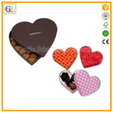 Rectángulo de regalo en forma de corazón del papel de la cartulina (OEM-GL006)