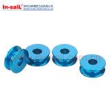 OEM het Aluminium van de Precisie om Staaf in de Fabrikant die van China wordt blauw-geanodiseerd