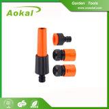 Il tubo flessibile di giardino dota gli ugelli d'un polverizzatore di plastica della fontana dello spruzzo d'acqua per l'agricoltura