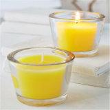 De transparante Kaarsen van de Kruik van het Glas met muti-Gekleurd