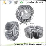 Disipadores de calor de aluminio de fusión del girasol del material de construcción