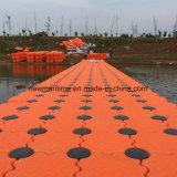 浮遊ポンツーンのドックの船の浮遊ドック