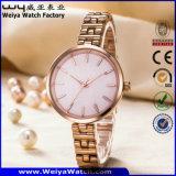 Le quartz d'acier inoxydable de mode d'ODM accouple les montres-bracelet (Wy-P17001B)