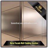 建築構造のステンレス鋼の金属の壁パネルのクラッディング