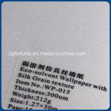Behang het van uitstekende kwaliteit van de Textuur van de Korrel van de Zijde van het Document van de Muur in Oplosmiddel Eco