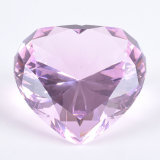 Diamante di cristallo del cuore variopinto per il Paperweight o la decorazione