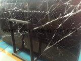 フロアーリング/壁のCountertop&Vanityの上のためのNero Marquinaの黒い大理石の平板