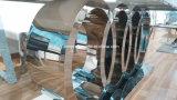 Modern Audi Marble Top/vidro temperado, mesa de jantar em aço inoxidável superior