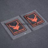 Transfert thermique épais de marque célèbre de qualité Fer-sur l'étiquette de silicones