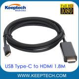 Tipo-c del USB 3.1 al cavo 1.8m USB-C di HDMI al convertitore di cavo di HDMI