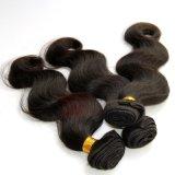 ボディ波の質のインドの人間の毛髪の束およびレースのFrontal