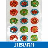인쇄된 Cmyk 색깔 수정같은 에폭시 수지 돔 스티커
