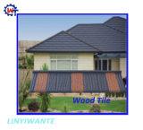 Diseño clásico de metal recubierto de piedra de teja de madera