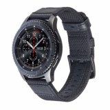 Alta calidad de 22mm de Nylon y de la banda de Reloj de cuero auténtico engranaje para Samsung S3