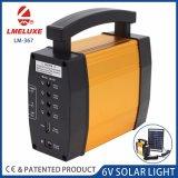 6V Nouveau matériel d'aluminium Système d'éclairage solaire Whit 3 ampoules LED