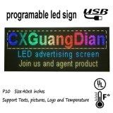 Ordinateur polychrome d'intérieur USB de support de table des messages d'étalage de défilement de P10 DEL programmable pour des signes de DEL