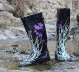 Водоустойчивые резиновый ботинки дождя, ботинки печатание резиновый, ботинок Китая